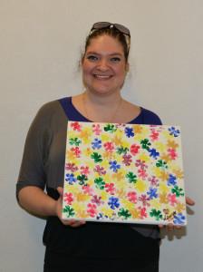Laura med maleri